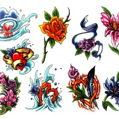 Флэши - Flowers 1 TattooReal.ru image 99